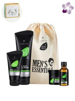 LR ALOE VIA Aloe Vera Mens Essentials-Set + Geschenkbox